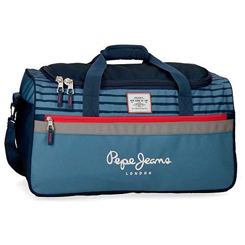 Pepe Jeans Yarrow Bolsa de Viaje Azul 52x29x29 cms...