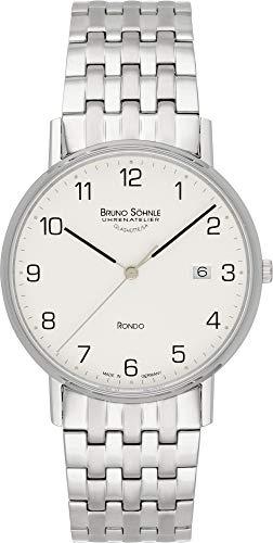 Bruno Söhnle Herren Analog Quarz Uhr mit Edelstahl Armband 17-13105-222