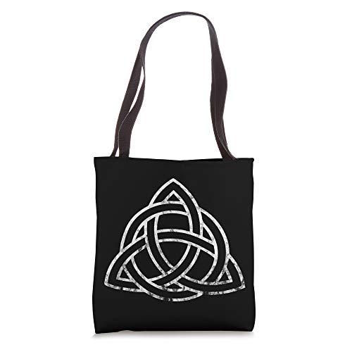 Triquetra Irish Celtic Trinity Knot Symbol Wiccan Spirtual Tote Bag