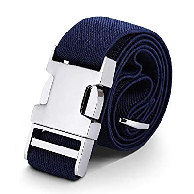 Kids Toddler Belt Elastic Adjustable Stretch for Boys Girls Belts with Easy Zinc Alloy Buckle by WELROG (Navy Blue)