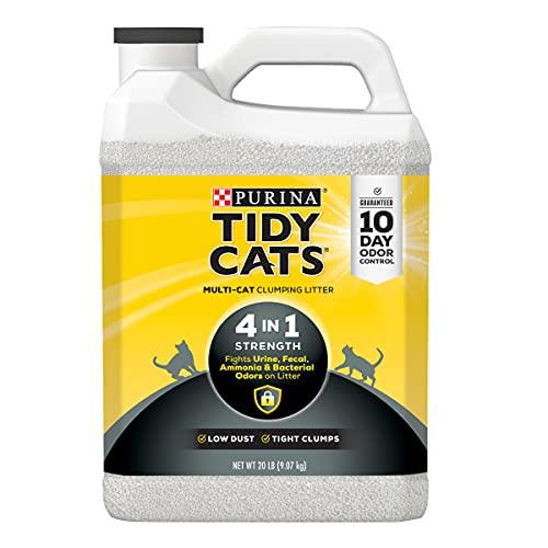 Purina Tidy Cats Clumping Cat Litter; 4-in-1 Strength Multi Cat Litter - (2) 20 lb. Jugs