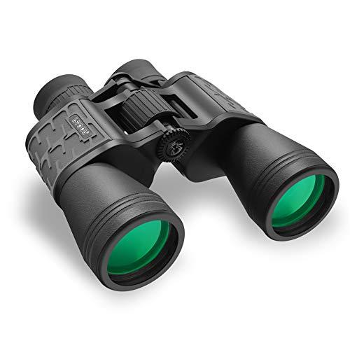 10x50 Fernglas für Erwachsene, HD Durable Waterproof Fogproof Professional Fernglas, leistungsstarkes FMC-Objektiv BAK4 Prisma Objektiv 24 mm großes Okular, Für die Jagd auf Reisekonzerte Stargazing