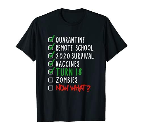 Funny 18th Birthday Gift I 18 Years I 2003 2021 I Quarantine T-Shirt