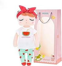 Me Too Fruit Juguete de Peluche Muñeca de Trapo Muñecas de Peluche Regalo de niña Suave y Seguro para Jugar - Serie Angela Fruit con Bolsa de Regalo - Sandía