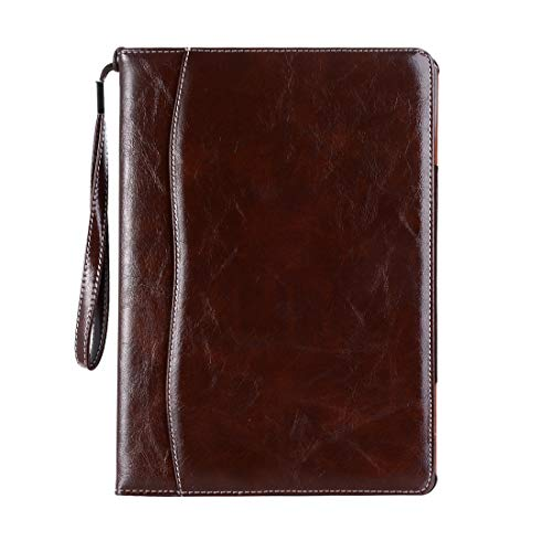 HONGYUE Business Style Horizontal Flip Leather Case for iPad Pro 10.5 inch, with Wallet & Card Slot & Holder & Lanyard (Black) (Color : Dark Brown)
