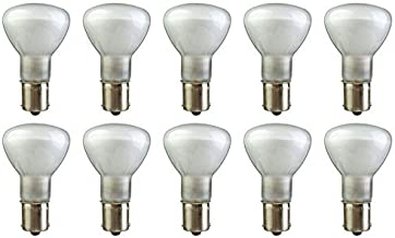 CEC Industries #1383TF (Frosted) Silicone Coated, Frosted Bulbs, 13 V, 19.5 W, R-12 shape (Box of 10)