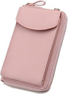 GUMAOPAJIAAAqb Monederos de Mujer, New Women Long Wallet Shoulder Bag Phone Bags Female Wallets Clutch Purse Zipper Phone ...