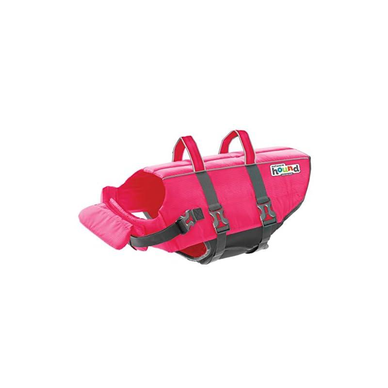 dog supplies online outward hound granby splash pink dog life jacket, xl