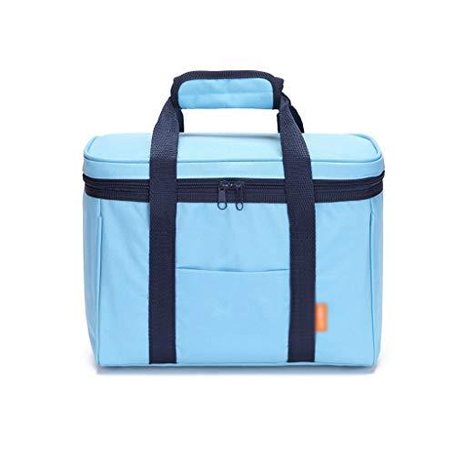 Bolso de Picnic de Gran Capacidad, Paquete de excursión al Aire Libre Paquete de la Bolsa de Almuerzo, Bolsa de Almuerzo, Cesta de Picnic, Bolsa de Compras (Color : Blue, tamaño : 31 * 16 * 24cm)