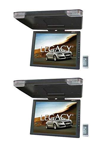 2) LEGACY LMR15.1 15' LCD TFT Car/SUV/TRUCK Flip Down Roof Mount...