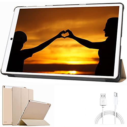 10.1 Inch Tablet Android 10.0, 32GB ROM/128GB 3GB RAM Call Phone Tablet PC, 8000mAh Battery Quad Cord Phablet, Dual Camera Dual SIM Card Slots Unlocked, Bluetooth, GPS, WIFI,Netflix, Disney+