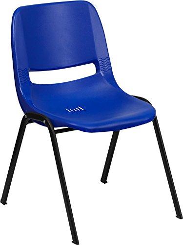 Hercules Series 880 lb. Capacity Blue Ergonomic Shell Stack Chair 21' W x 23' D x 32.125' H