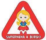 Haberdashery Online Pegatina Adhesiva Bebé a Bordo. Adhesivo vinilo para coche o moto. 15 x 13,7 cm. (31. Supernena Supergirl)