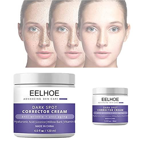 Dark Spot Corrector Cream for Face & Body, 4 OZ Skin Bleaching Cream Anti Aging Face Moisturizer Skincare Cream, Skin Nourishing Age Spot Remover & Blemish Reducer, Dark Spot Corrector Whitening