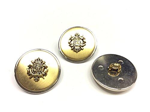 Sandra Set met 10 knopen Blazer tweepersoonsbed, heren, metaal goud en zilver, GRIFONE