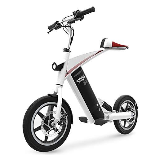 Bicicleta Eléctrica Plegable De Cercanías Bicicletas, hasta 25 Km/H, 40-60Km Autonomía, Batería De Litio De 36V / 10Ah 250W, 14'Urban E-Bici con El Pedal Y 3W Faro Delantero Unisex Adulta