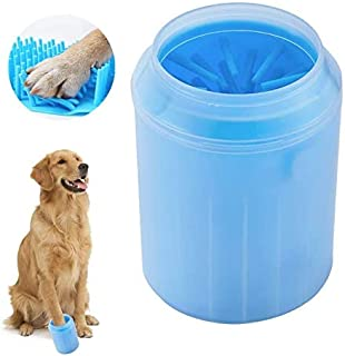 PUBAMALL Dog Paw Cleaner - Lavadora de Patas de Mascotas portátil, Taza de Cepillo de Limpieza de Lavado con cerda de Sili...