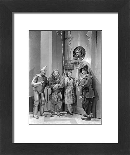 Media Storehouse Framed 10x8 Print of Judy Garland, Ray Bolger, Bert Lahr (8773743)