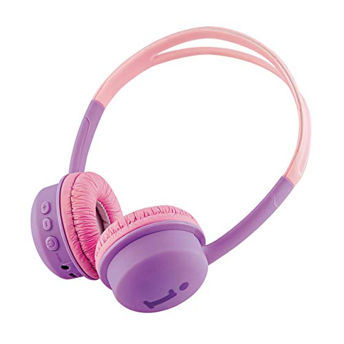 iBall Kids Diva Safe Stereo Bluetooth Headset with Mic (Violet and Pink)