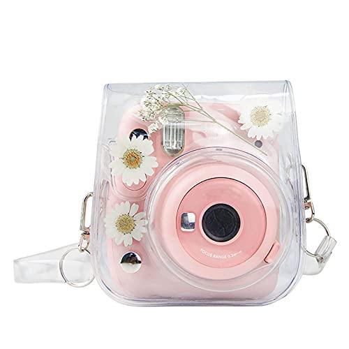 Kamera-Taschen Hülle für Instax Mini 11 Camera Schutzhülle, Sofortbildkamera, Transparent Chrysantheme Compact Schutztasche Kompaktkamera-Taschen mit Schultergurt & Tasche