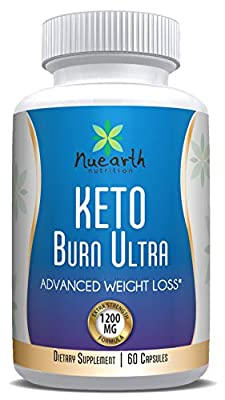 Keto Burn Ultra 1200 MG Best Ketogenic Weight Loss Capsules Diet Supplements Fat Burner