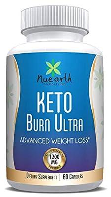 Keto Burn Ultra 1200 MG Best Ketogenic Weight Loss Capsules Diet Supplements Fat Burner