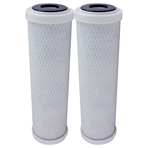 2 Pack Flow-Pur 8 Carbon Block Filter Compatible Cartridge WCBCS-975-RV by American Water Solutions