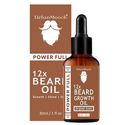 UrbanMooch 12X Beard Growth Oil, Moustache Oil-30ML