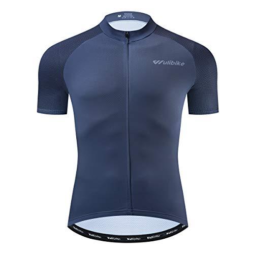 logas Radtrikot Herren Jersey Fahrrad Kurzarm Pro Radsport Bekleidung Grau L