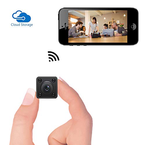 Mini cámara WiFi - Bysameyee Cámara espía inalámbrica Oculta con detección de Movimiento Almacenamiento en la Nube con visión Nocturna, grabadora de Video HD 720P IP con Vista en Vivo móvil