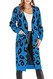 BABYONLINE D.R.E.S.S. Damen Strickjacke Cardigan Langarm Jacke Asymmetrisch Oberteil Open Front Mantel Outwear Strickmantel Sweater Cover Up