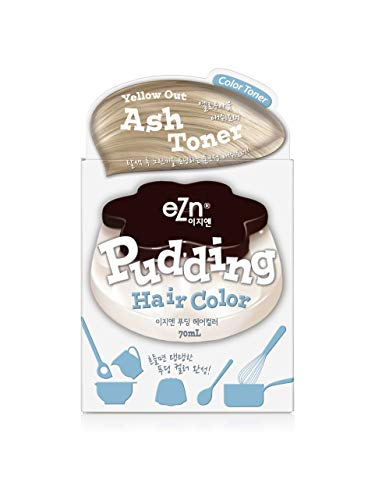 eZn Pudding Hair Dye Yellow Out Ash Toner Ammonia Free Semi-Permanent Self Hair Dye DIY Kit included contain Keratin Made in Korea Beauty