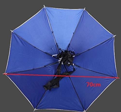Xst Handige 80CM grote hoofd paraplu anti-UV anti-regen outdoor reizen vissen paraplu hoed draagbare vouwparaplu
