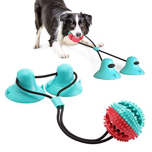 Giocattolo Per Cani Sucker, Dog Chew Toy, Gioco per cani in corda con doppia ventosa, Adatto a masticatori aggressivi e spazzolini da denti, Adatto a cani di piccola e grande taglia