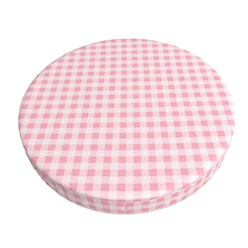 Round Bar Stools Cover,Rosa Gingham,Stretch Chair Seat Bar Stool Cover Seat Cushion Slipcovers Chair Cushion Cover Round Lift Chair Stool
