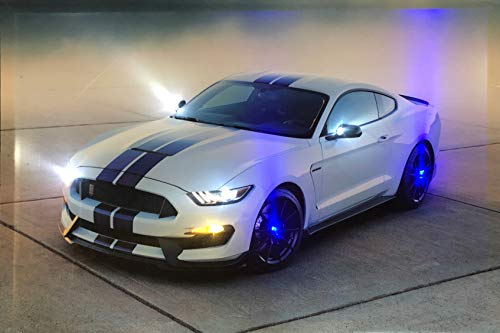 Samarkand - Lights LED-Bild mit Beleuchtung LED- Bilder Leinwandbild 65 x 45 cm Leuchtbild US CAR/Muscle Car Wandbild