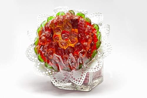Blumenstrauss Rose aus Fruchtgummi