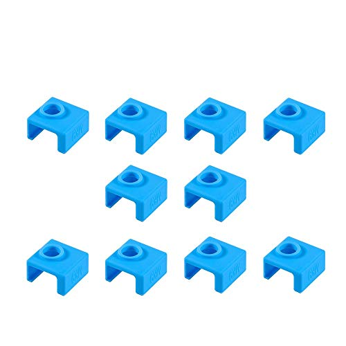 3Dman MK8 Silicone Sock Heater Block Silicone Cover for MK7/8/9 3D printer Hotend Extruder(Blue)