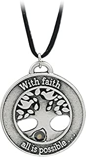 Cathedral Art FM103 Tree of Faith with Mustard Seed Pendant, Includes 22-Inch Black Satin Cord