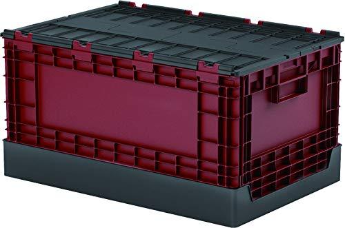 livinbox 折りたたみバスケット 折りたたみコンテナ フタ付き 折りコン 折りたたみ 収納ボックス プラスチック-クリア58L
