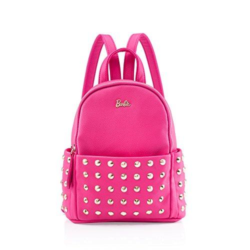 Barbie Zaino da Donna Ragazza Bambina in PU, Colore Rosa vivo, 23x25x9CM#BBBP055.03A