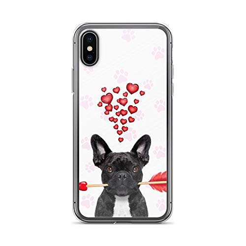 Compatible for iPhone 6/6s Case Frenchie Dog Mom Love Arrow Pink Paw TPU Anti-Scratch