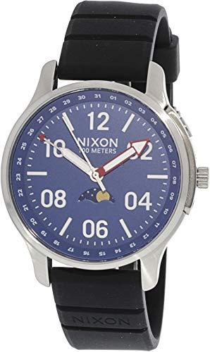 Nixon Herren Mondphase Quarz Smart Watch Armbanduhr mit Silikon Armband A1209-722-00
