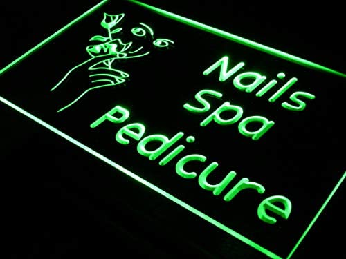 ADVPRO Nails Ranking TOP10 half Spa Pedicure Beauty Salon x Neon Green 12 Sign LED