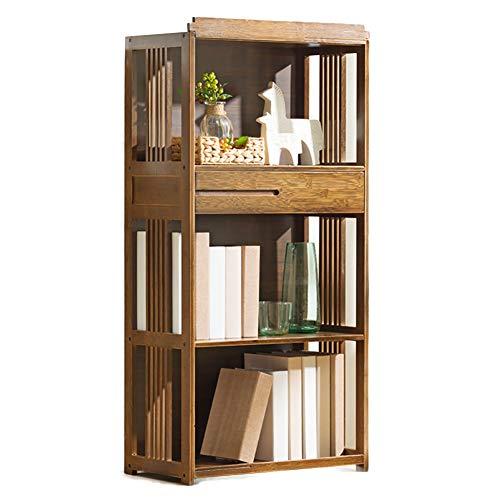 TOPYL Verdikt hout hoge boekenkast met lade compacte multifunctionele moderne meubels eenvoudige montage voor opslag badkamer woonkamer
