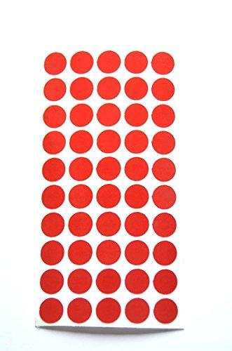 geo-versand Reflektoren Punkte Klebepunkte reflektierend Makierung Geocaching Reflective Dots reflektierende Kreise (100, rot)