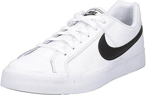 Nike Mens Court Royale AC Sneaker, White/Black, 45 EU