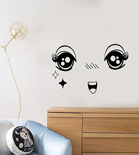 Cartoon Gesicht Muster Vinyl wandtattoo Dekoration Wohnzimmer Schlafzimmer niedlich Kunst Aufkleber tapete kinderzimmer 63x40 cm
