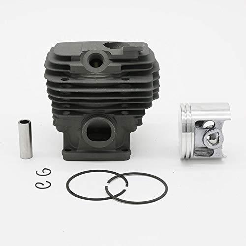 Anillo de pistón de cilindro de 52mm apto para STIHL MS461 MS 461 1128020 1250 Repuestos de repuesto de motosierra revestida Nikasil (Size : MS461 52MM)