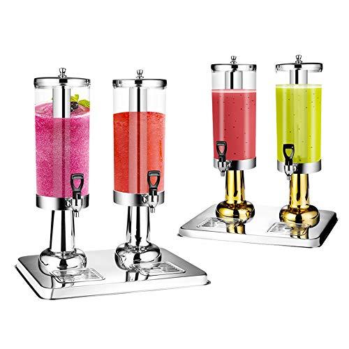 JRPT Kühlung Cold Juice Drink Dispenser Einfach zu zerlegen und zu installieren Saftdispenser, PC-Lauf Getränkespender, heiß und kalt/Silber / 6l
